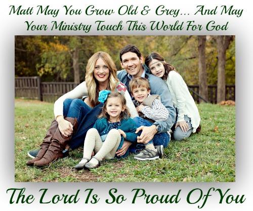 MATT CHANDLER, FAMILY, BEST WISHES