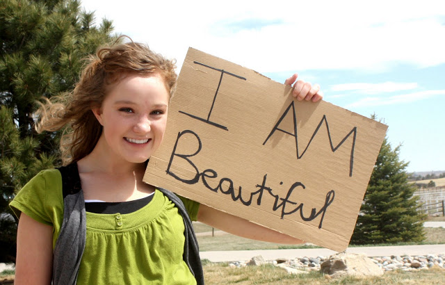 i am beautiful, positive quote